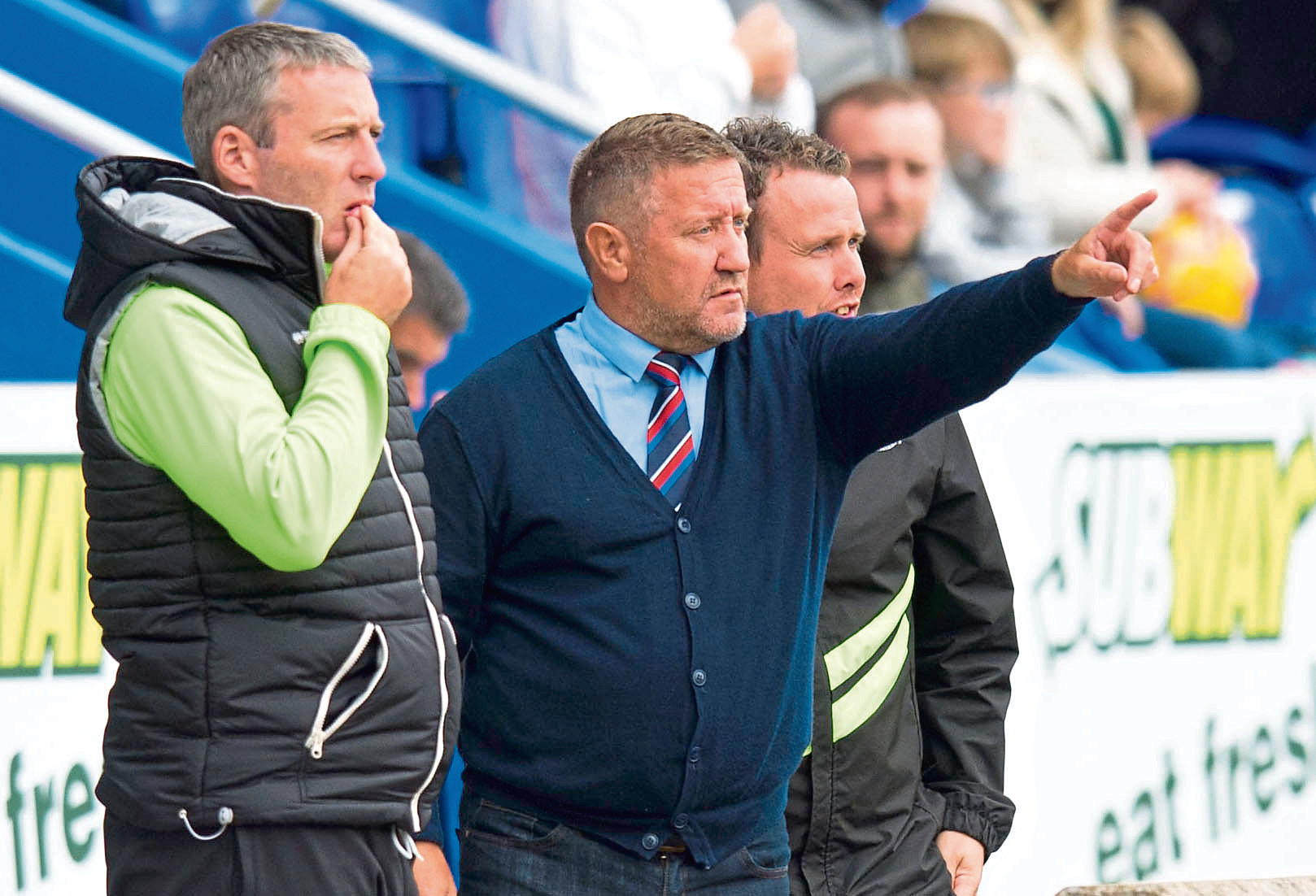 Inverness Manager John Robertson (right) with Inverness assistant manager Barry Wilson