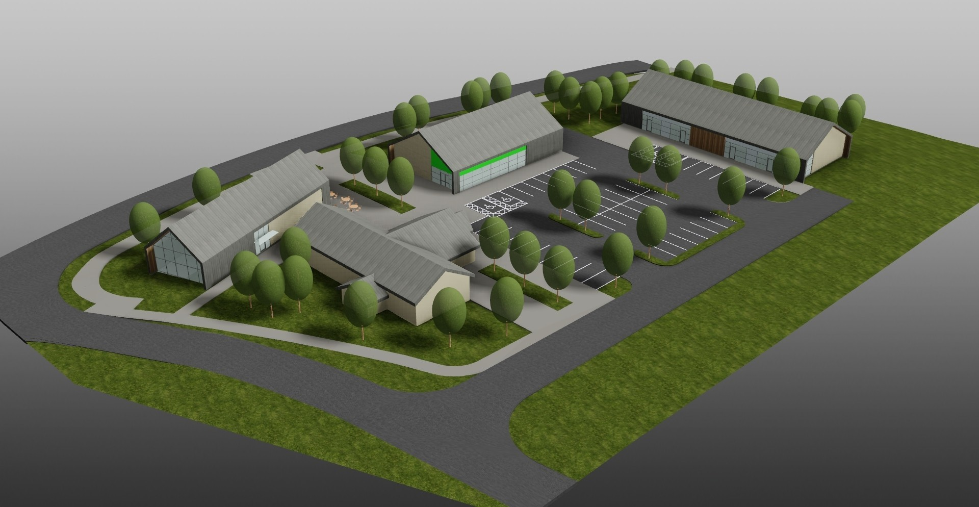 Plans for Bancon Homes' residential development.