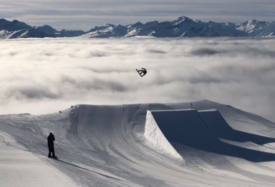 Fin Bremner taking his snowboarding to new heights.
