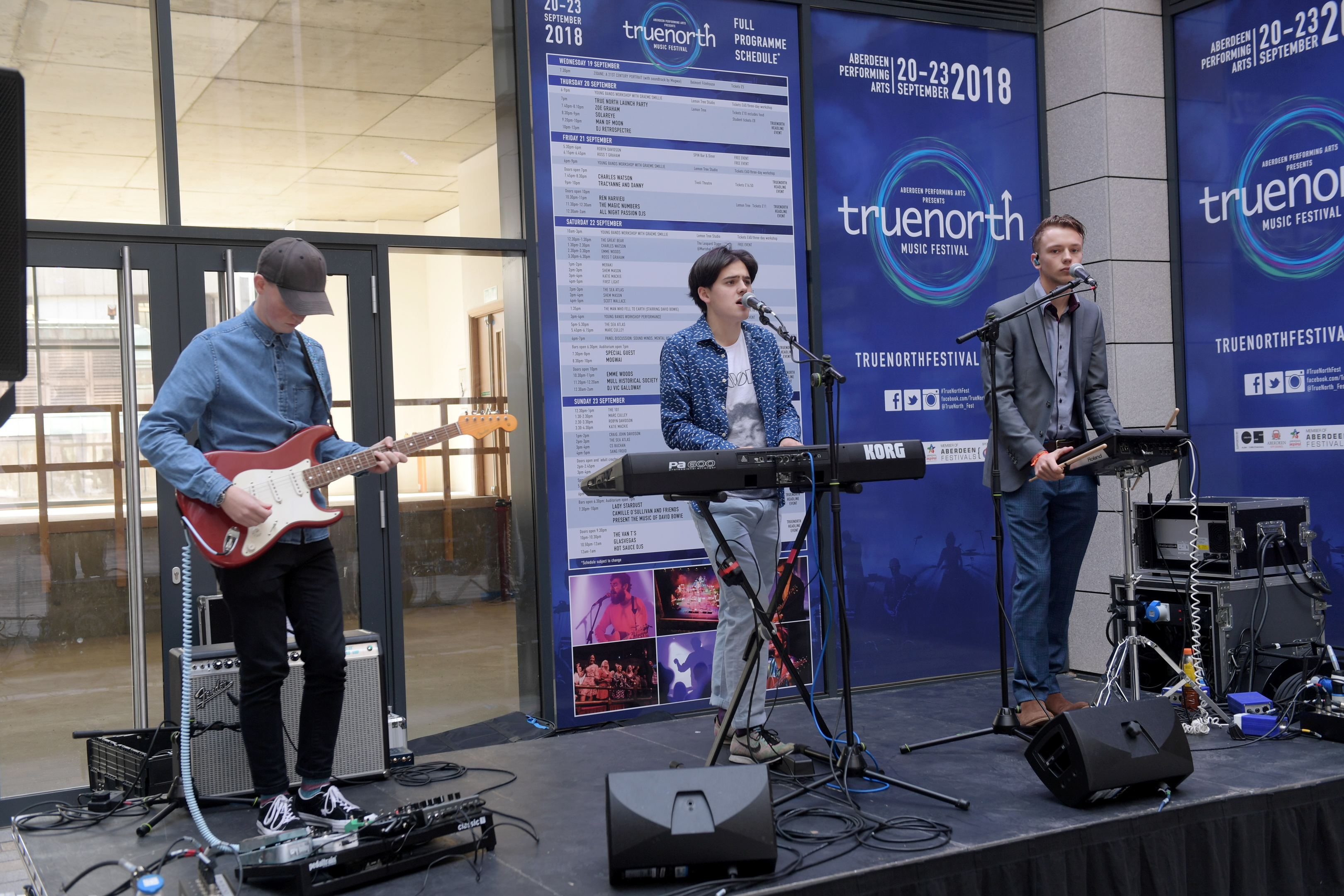 The 101 performing on the Leopard Stage.