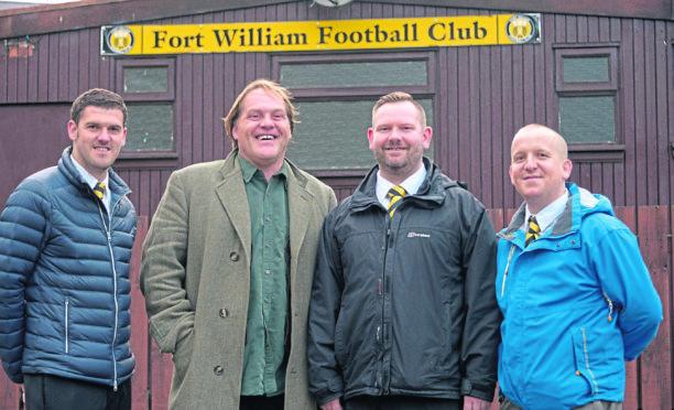 Fort FC directors (left - right) John Bamber, Woody Wood, Michael MacKinnon and Sam Lees.