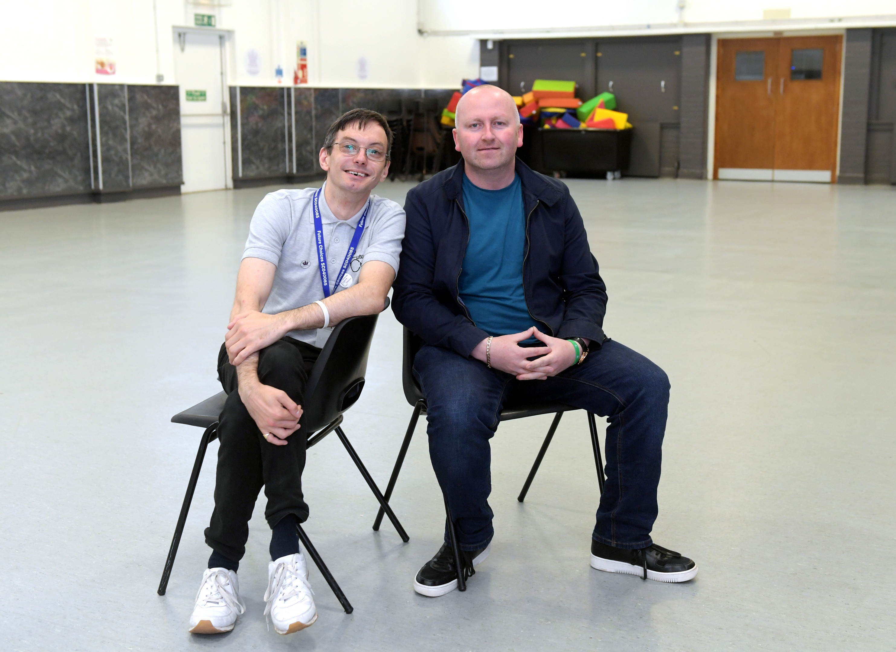 David Forbes and Paul O'Connor pictured at Inchgarth Community Centre. Picture by Kath Flannery.