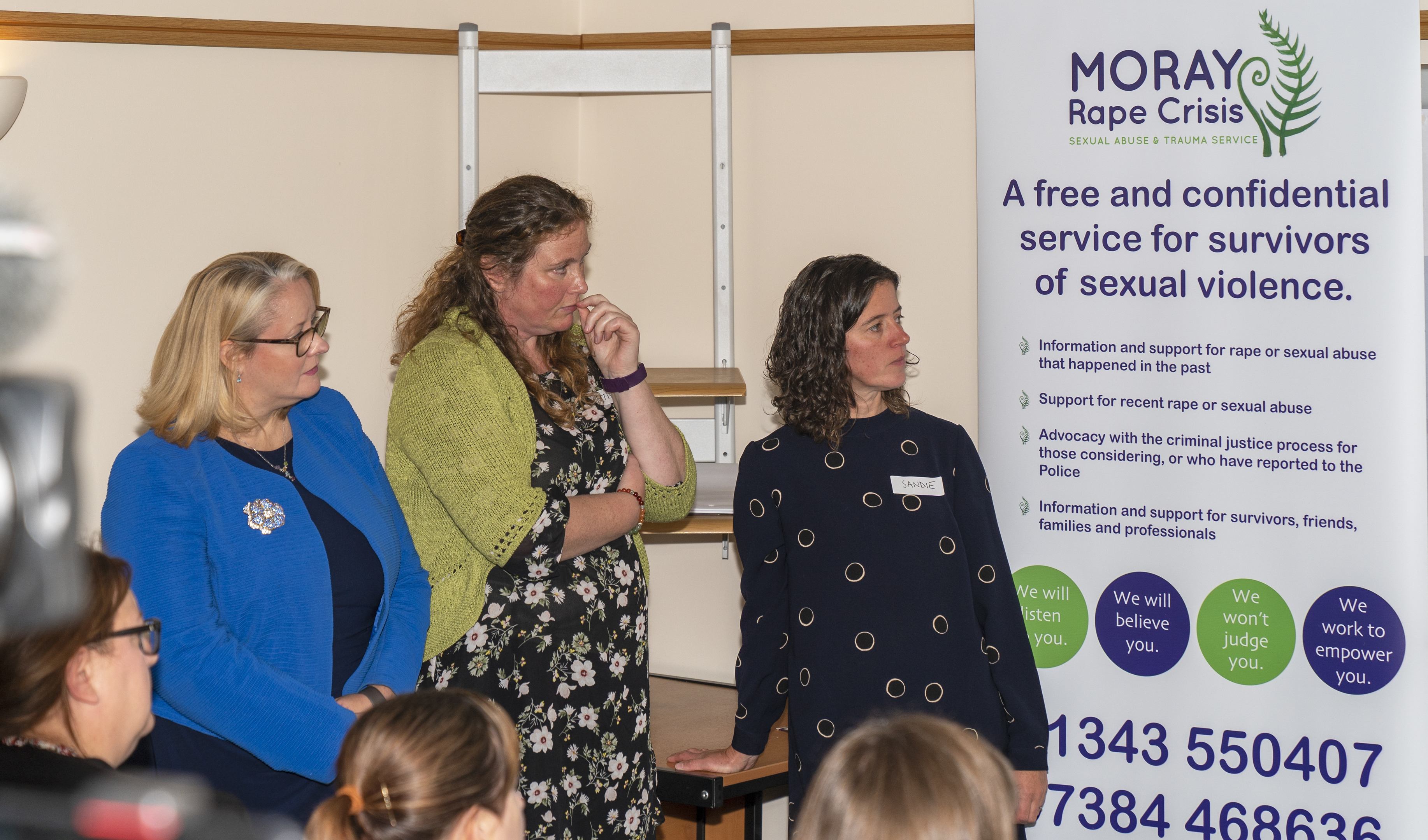 The official opening of Moray Rape Crisis Centre at Winchester House in Elgin.