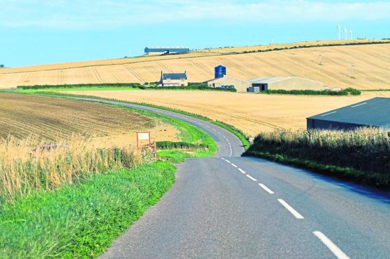 A stretch of the B9031 between Macduff and Gardenstown.