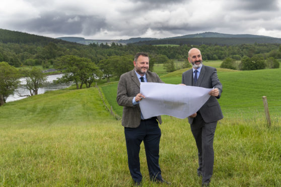 Mark Fresson (left), of NORR architects, with Gordon and MacPhail managing director Ewen Mackintosh at the site of the proposed new distillery.