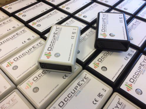 OccupEye sensors. Copyright: OccupEye