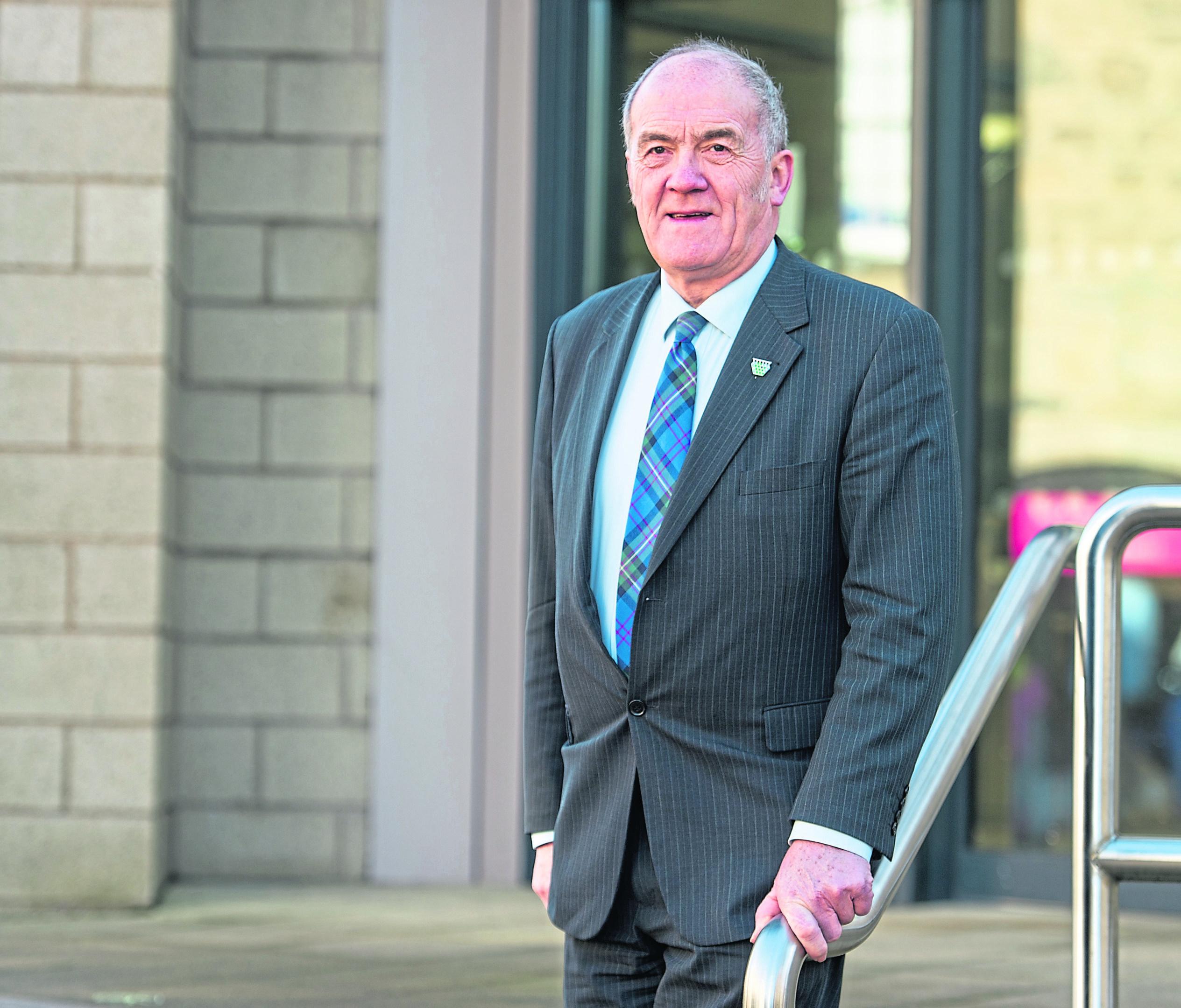 George Alexander, Moray Council Leader in Elgin.