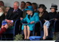 Braemar Gathering 2018, at The Princess Royal and Duke of Fife Memorial Park in Braemar. Picture of Prince Charles, the Queen and Princess Anne watching the games.  Picture by KENNY ELRICK     01/09/2018