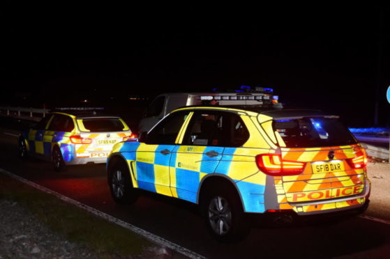 Police Scotland at the scene of a Road Traffic Collision (RTC) on the A90 Aberdeen to Dundee road at the Jackson Group Services turn off near Laurencekirk.  Picture by KENNY ELRICK     12/09/2018