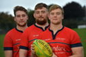 Robertson brothers, Aaron, Jordan and Cameron, who all featured for Aberdeen Grammar in their win last weekend.