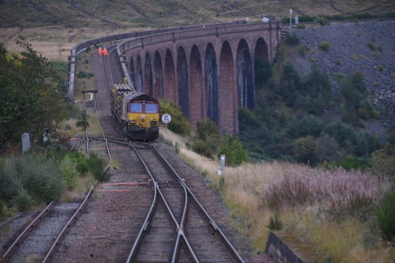 The derailed train near Culloden. Picture by Sandy McCook.