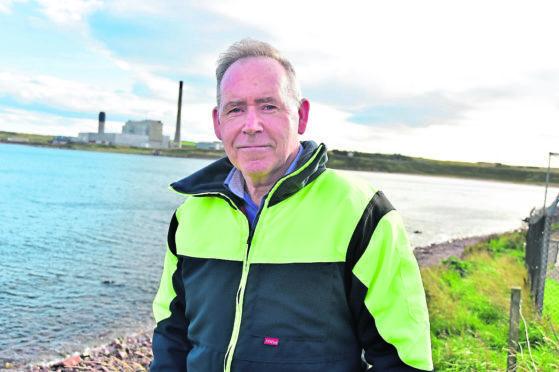 Peterhead Port Authority CEO Simon Brebner at Sandford Bay.