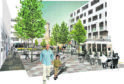 An artist's impression of the new-look Queen Street area
