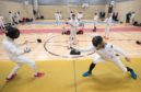 Fencers taking part in the Highland Open.