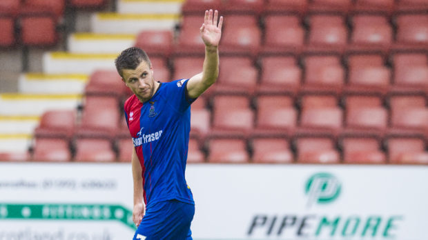 Liam Polworth after scoring against Dunfermline.
