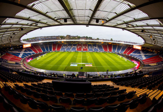 The final takes place at Hampden Park on December 2.