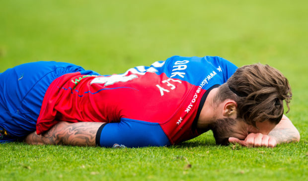 George Oakley was taken off against Partick Thistle with a hamstring injury.