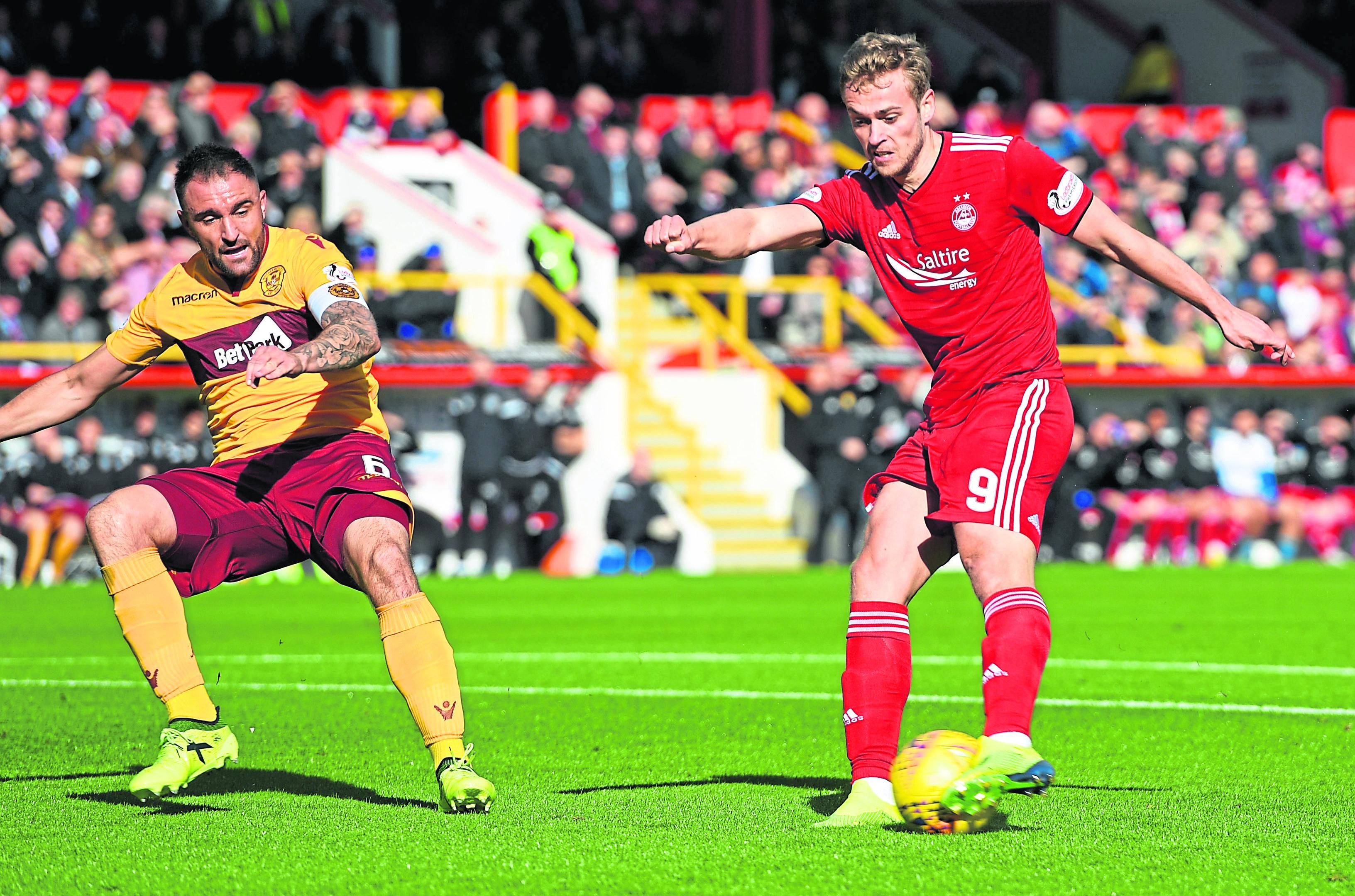 Aberdeen's James Wilson scores to make it 1-0