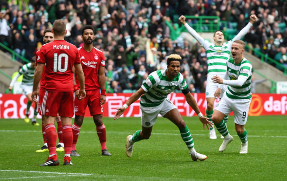 Celtic's Scott Sinclair celebrates his goal