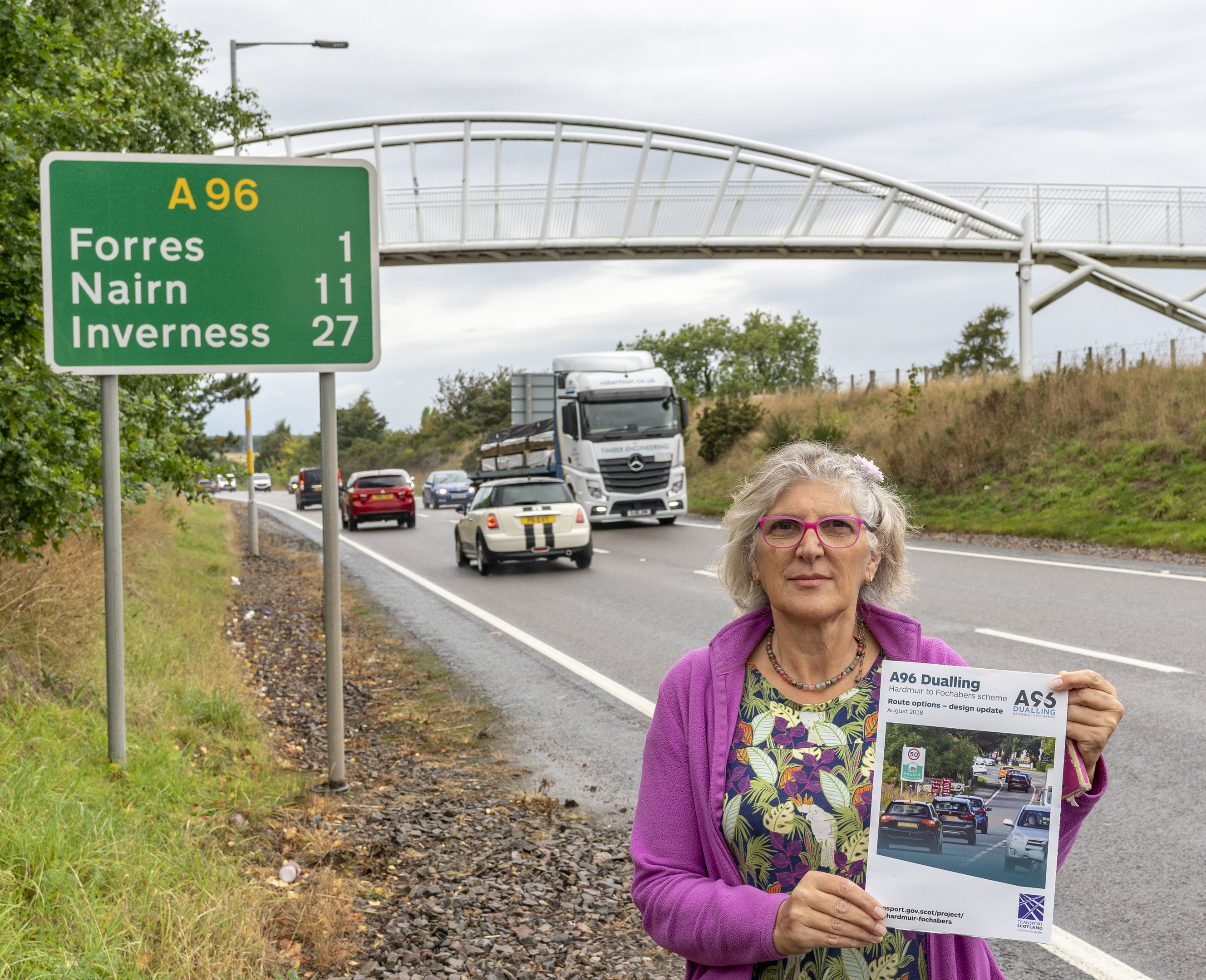 Susie Minto of the Forres A96 Community Group.