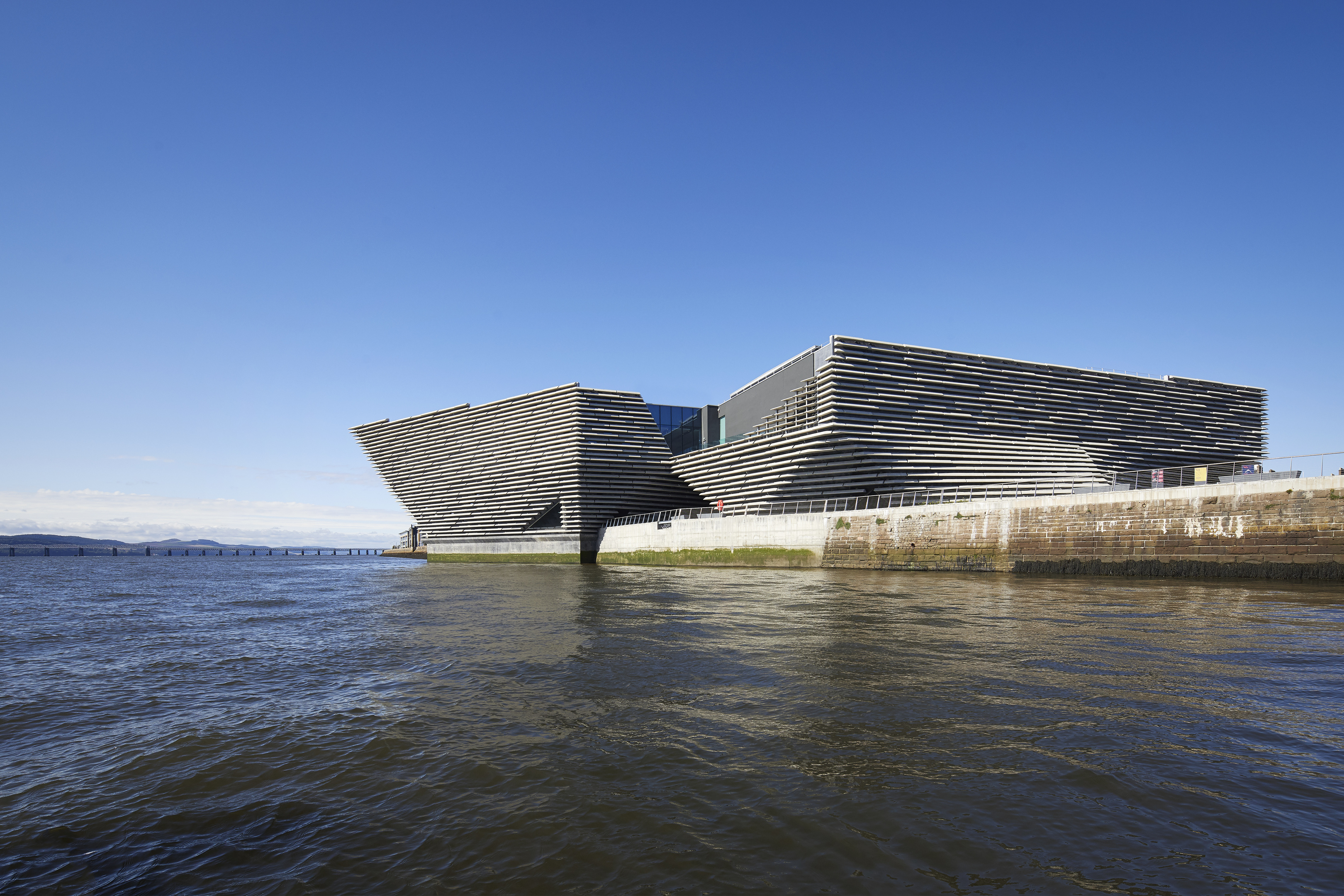 V&A Dundee, as seen from the Tay.