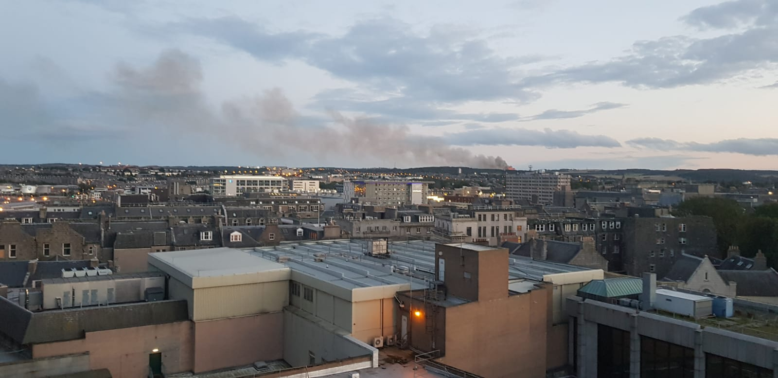 The fire seen last Sunday
