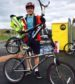 """Finley Cousins, 15-year-old who welded together his own """"double-decker"""" bike"""