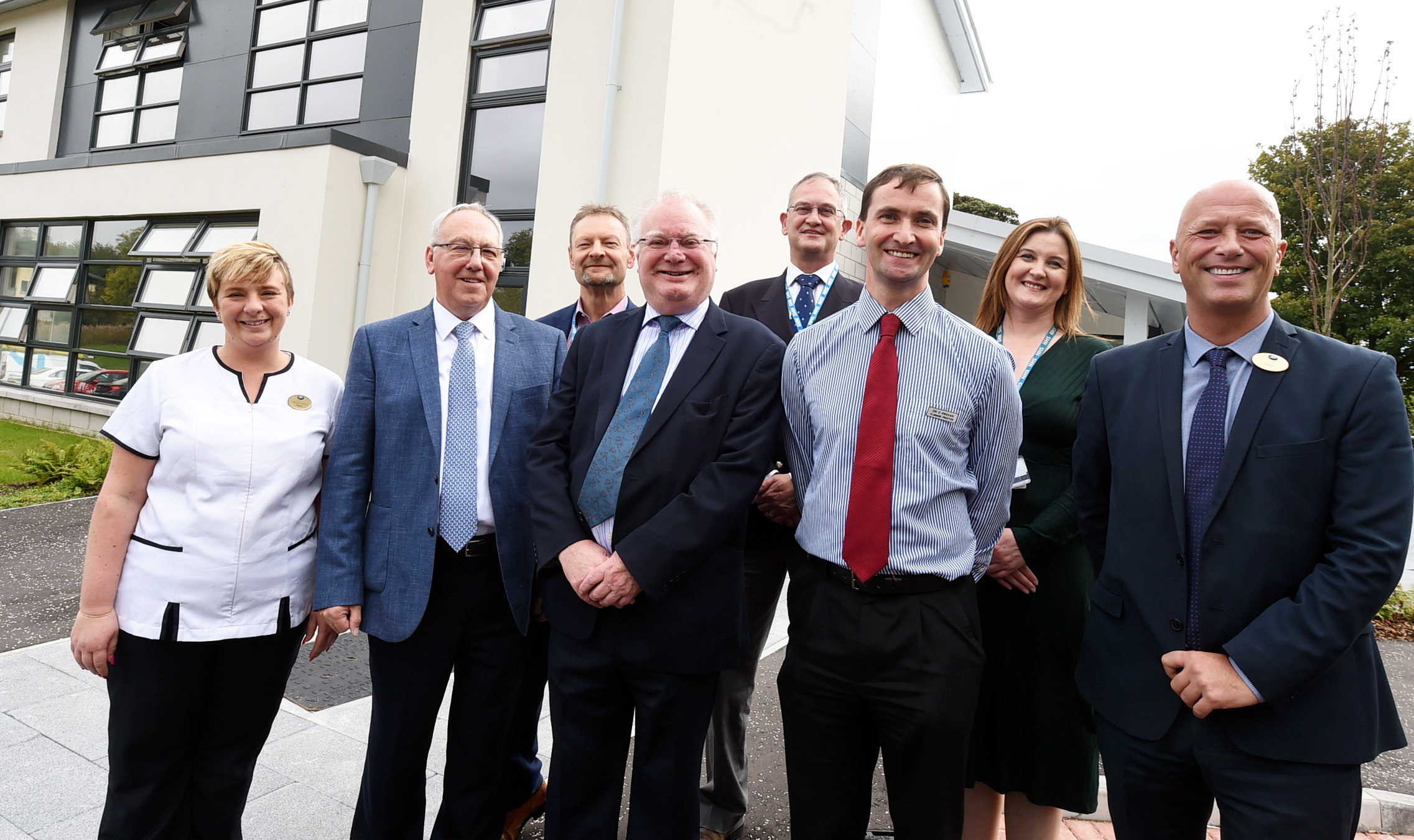 The opening of the new Forresterhill Health Centre, Aberdeen