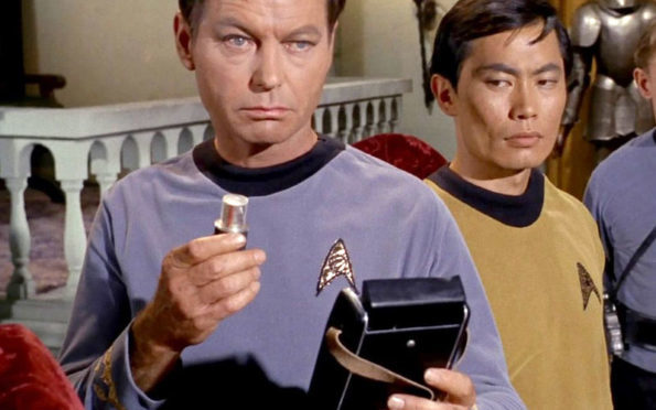 McCoy with his medical tricorder | Photo: CBS Home Entertainment