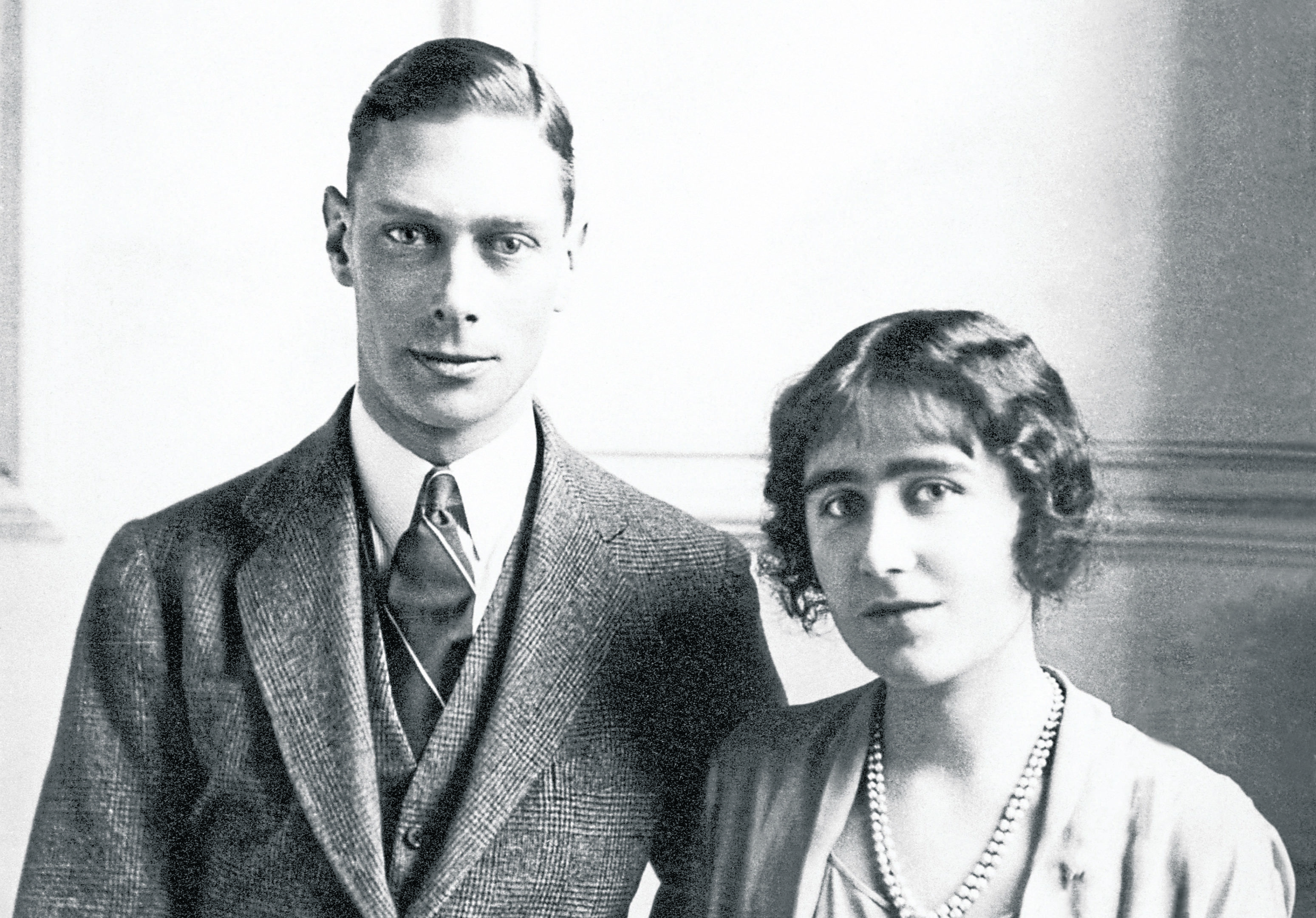 Prince Albert, later King George VI, with Lady Elizabeth Bowes-Lyon, later Queen Elizabeth