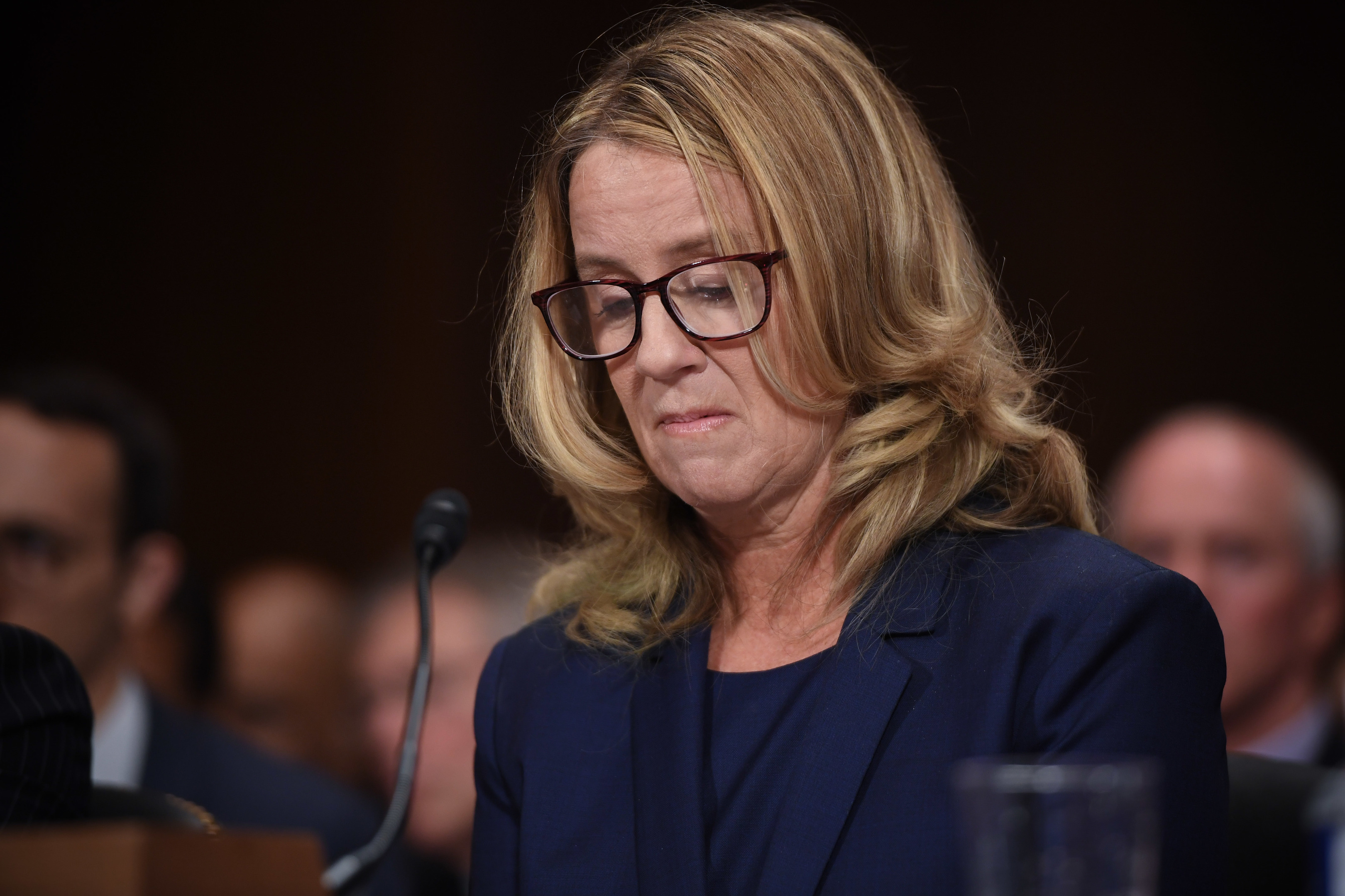 Christine Blasey Ford, testifies before the US Senate Judiciary Committee.