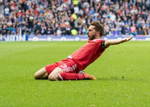 Graeme Shinnie will lead Aberdeen into today's Betfred Cup semi-final against Rangers.