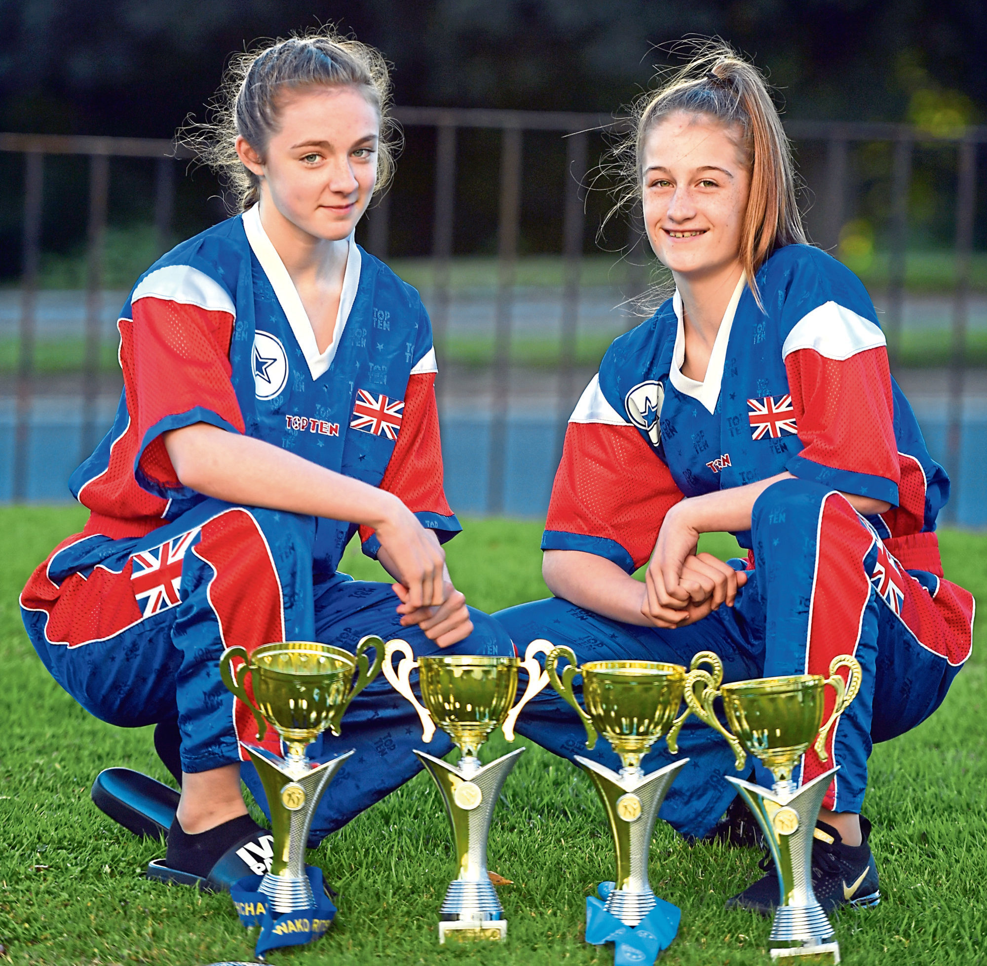 Going places: Abi Allan, left, and Kaitlyn Hendry have had a good 2018