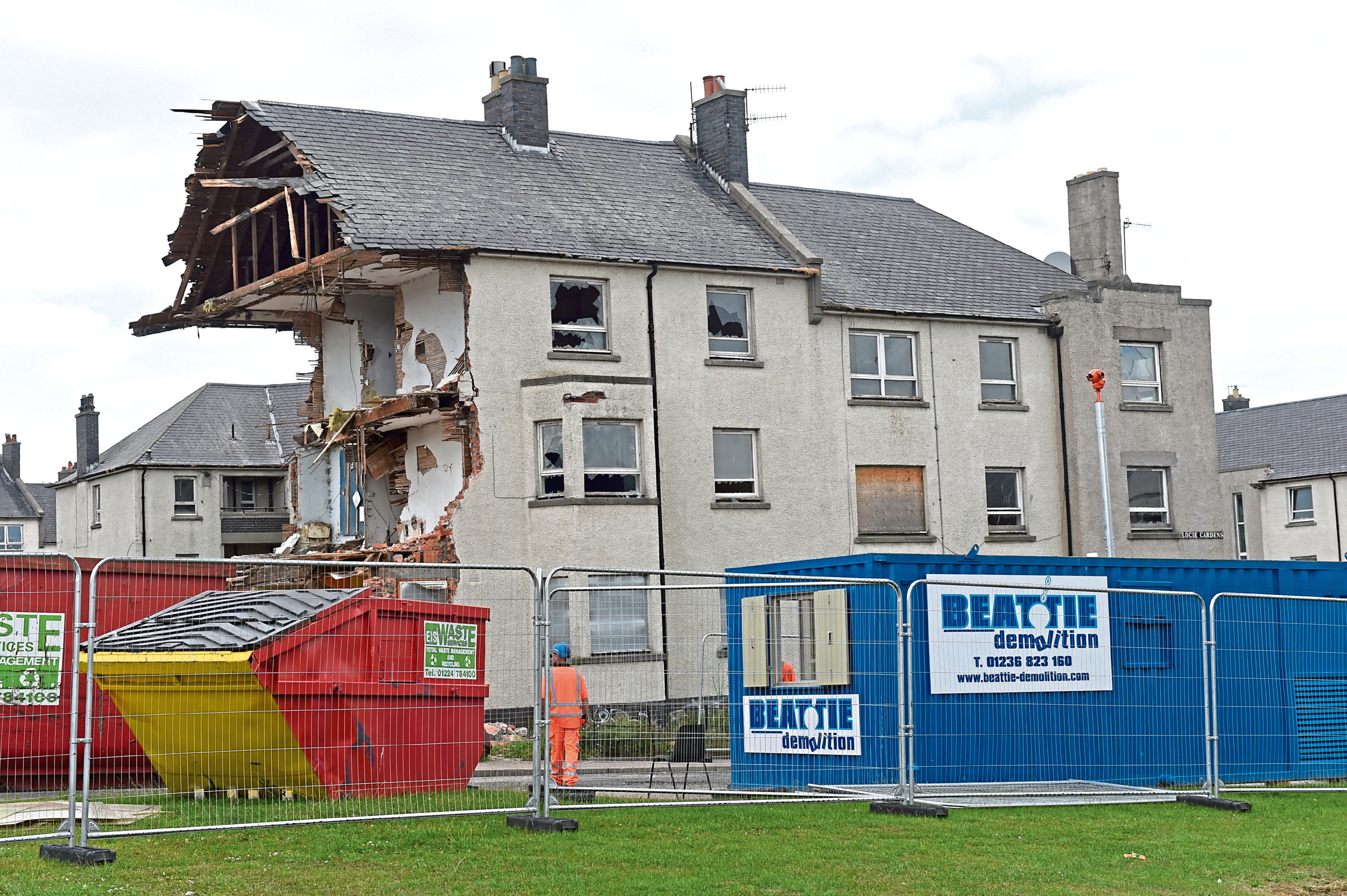 Demolition work on Logie Avenue. 19/07/18 Pic by HEATHER FOWLIE