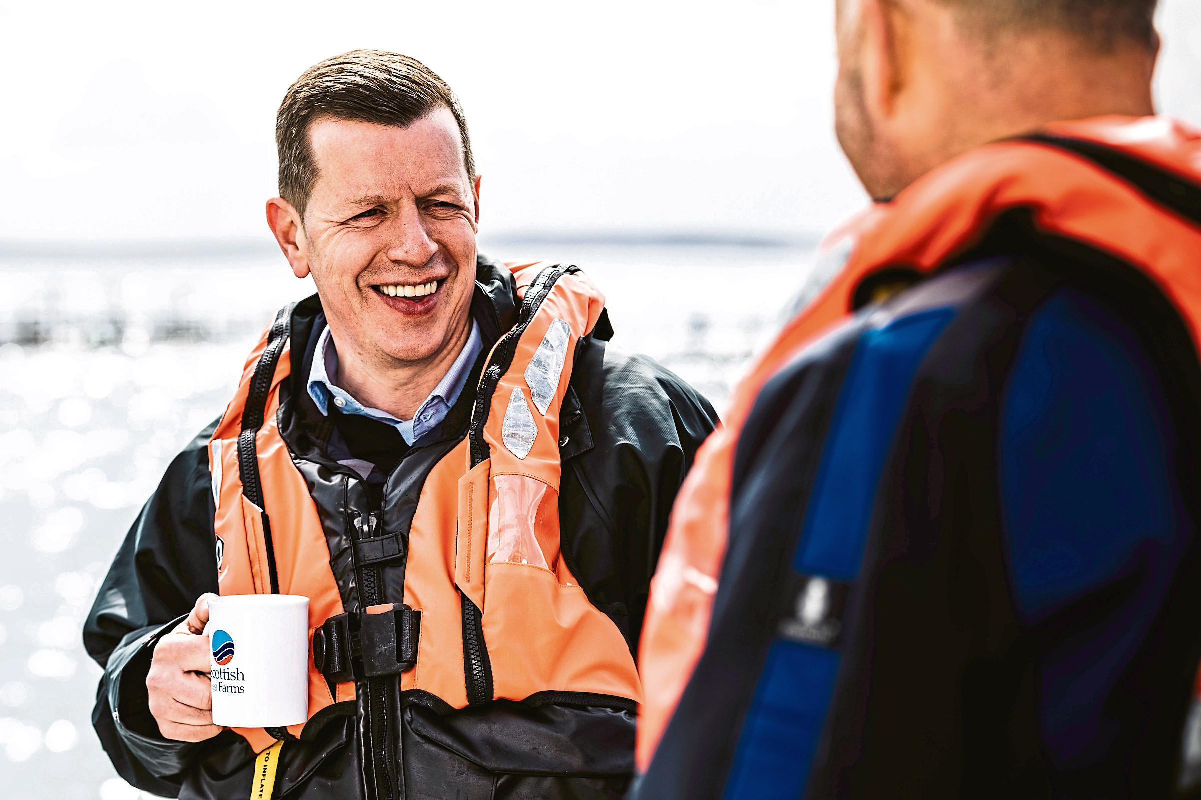 Scottish Sea Farms managing director, Jim Gallagher.