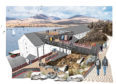 The visitor centre will be built in the warehouse and overlook the Sound of Islay, with a pedestrian bridge on to the roof.