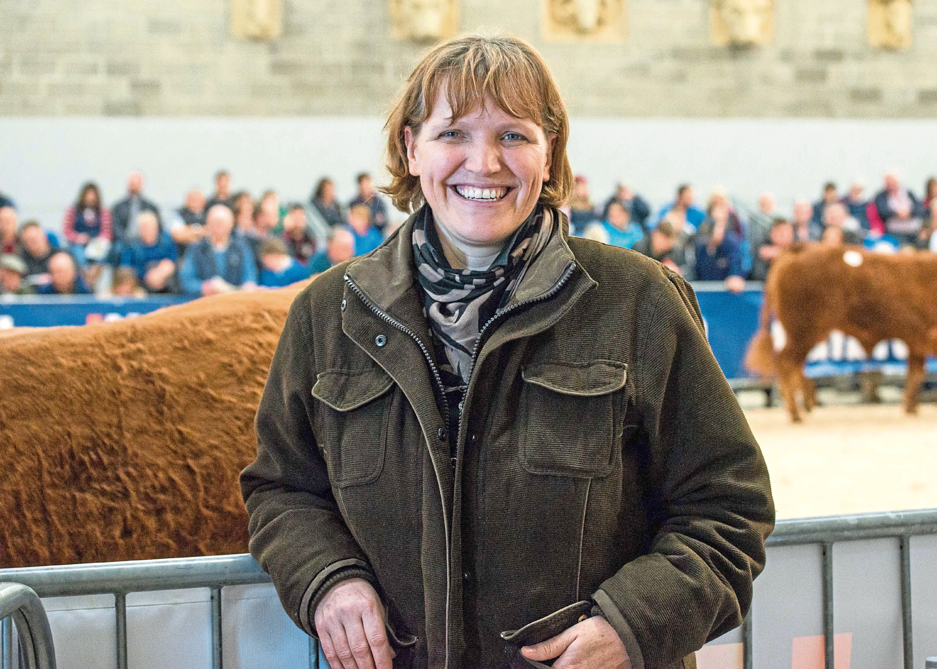 British Limousin Cattle Society technical manager, Alison Glasgow.