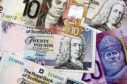 notes currency cash pounds savings spending generic ten twenty