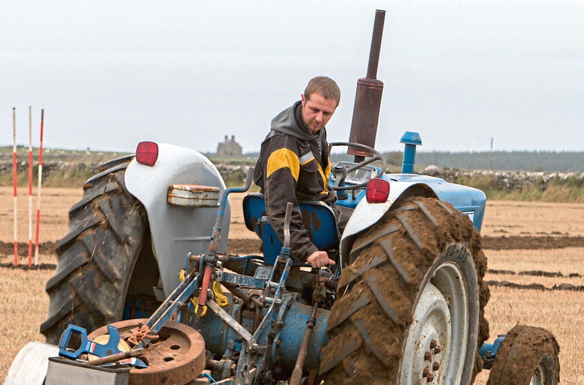 Graeme Mackay, Buldoo, Dounreay, won the open and county championship, along with an armfull of other trophies. He was using a Ford 4000 tractor and Ransomes plough.