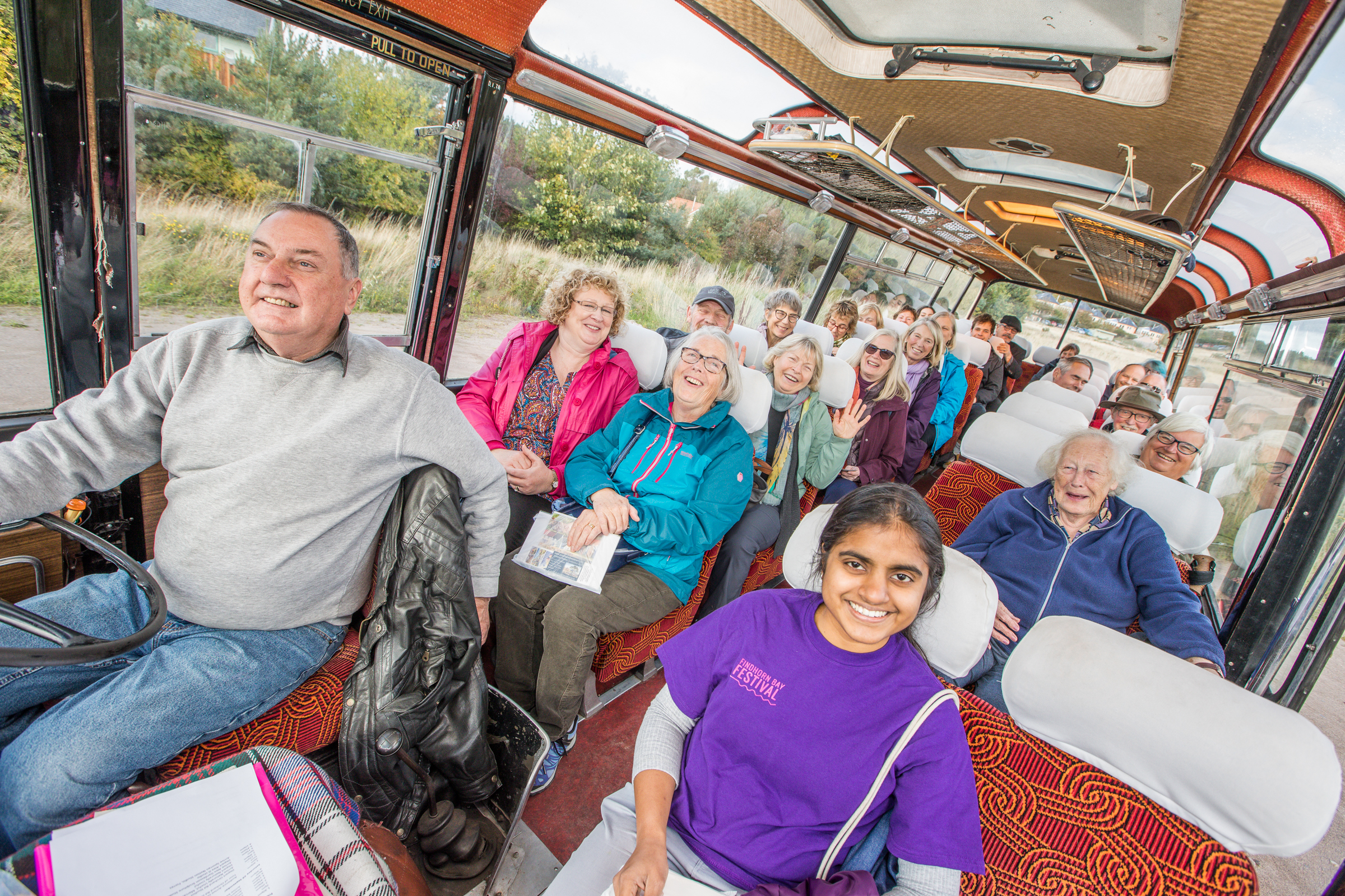Tours of the area on a 1960s vintage bus were one of the sold-out events.