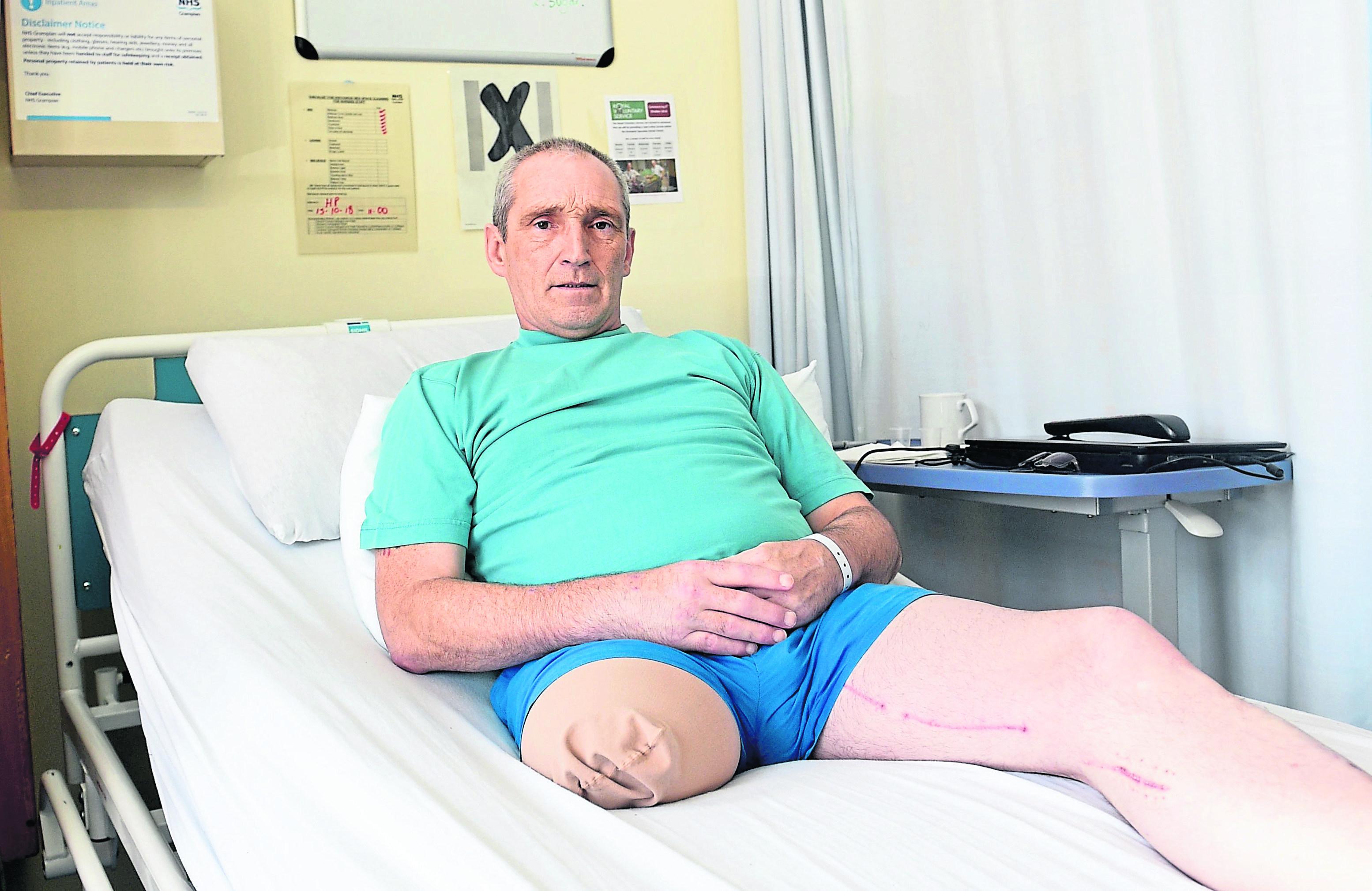 Steve Cruickshank at Woodend Hospital.
