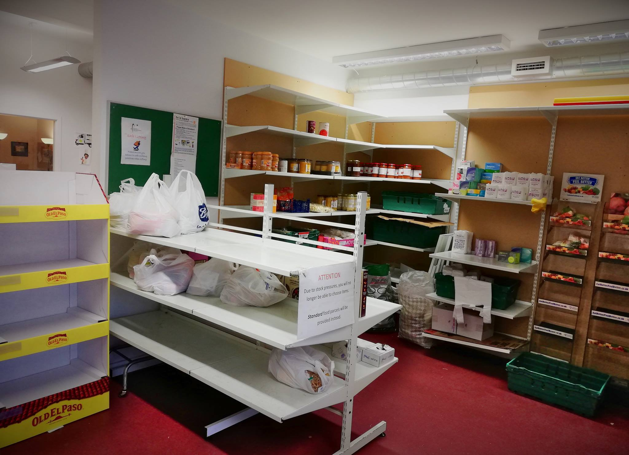The empty shelves at CFINE