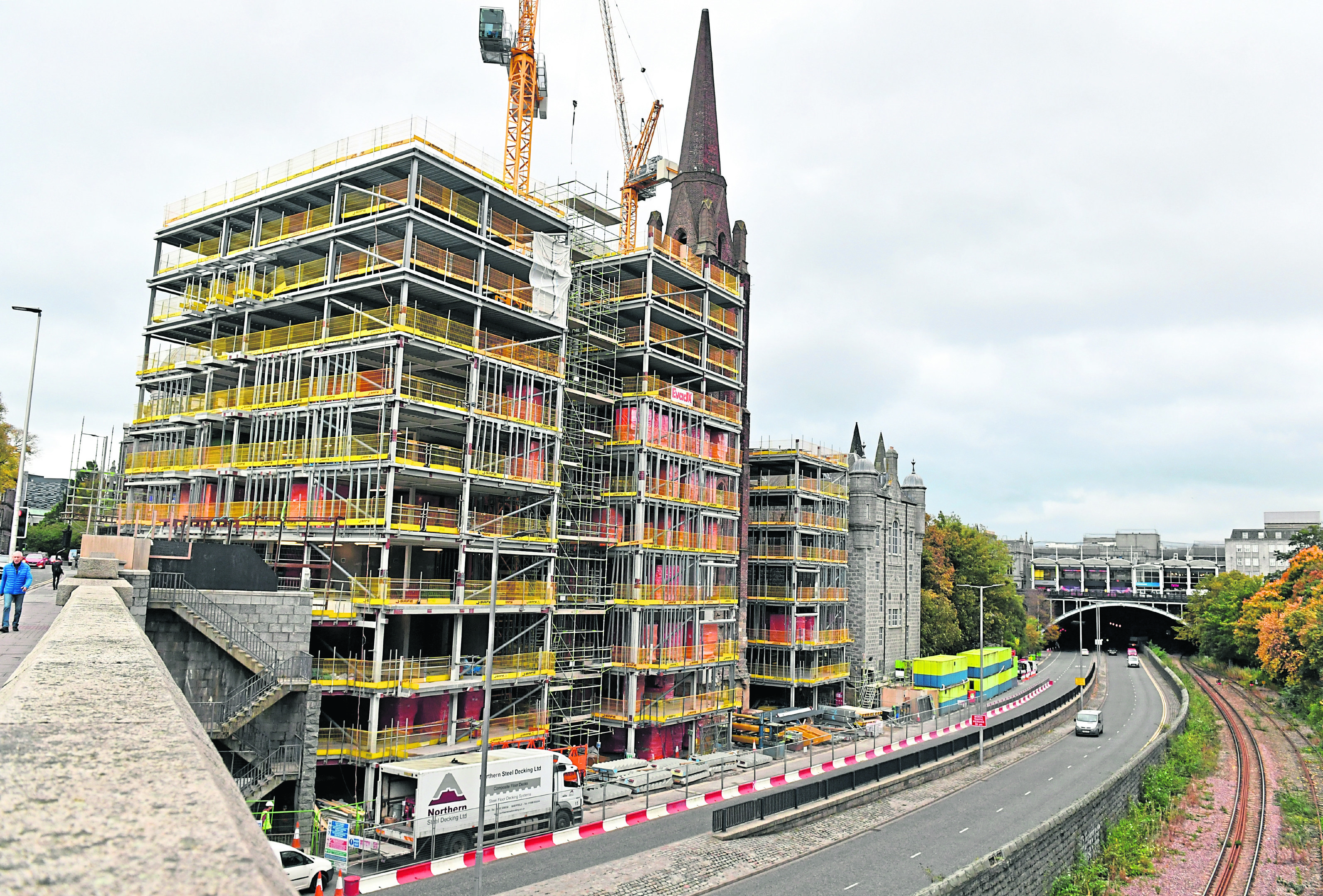 The Triple Kirks development in Aberdeen City centre.