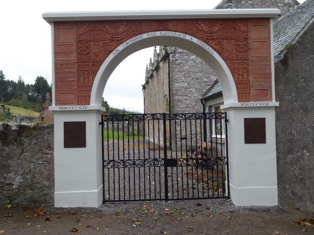 Dores memorial after restoration work.