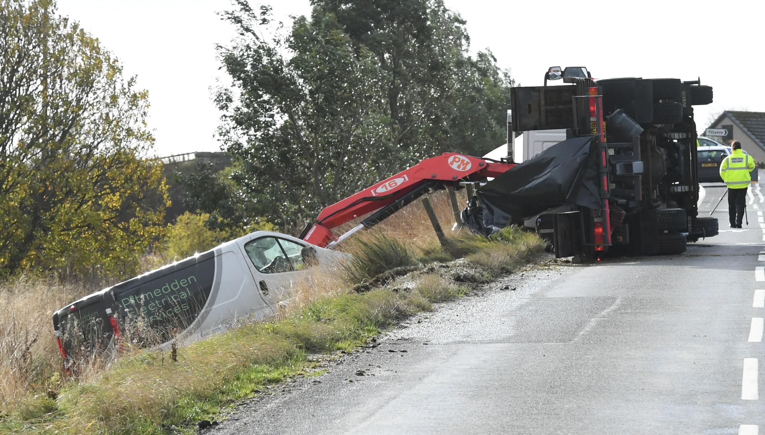 The scene of the tragic accident.
