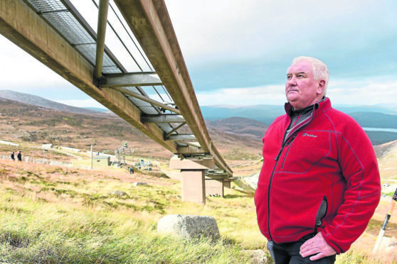 Alan Brattey of the 'Save the Ciste' campaign on CairnGorm.