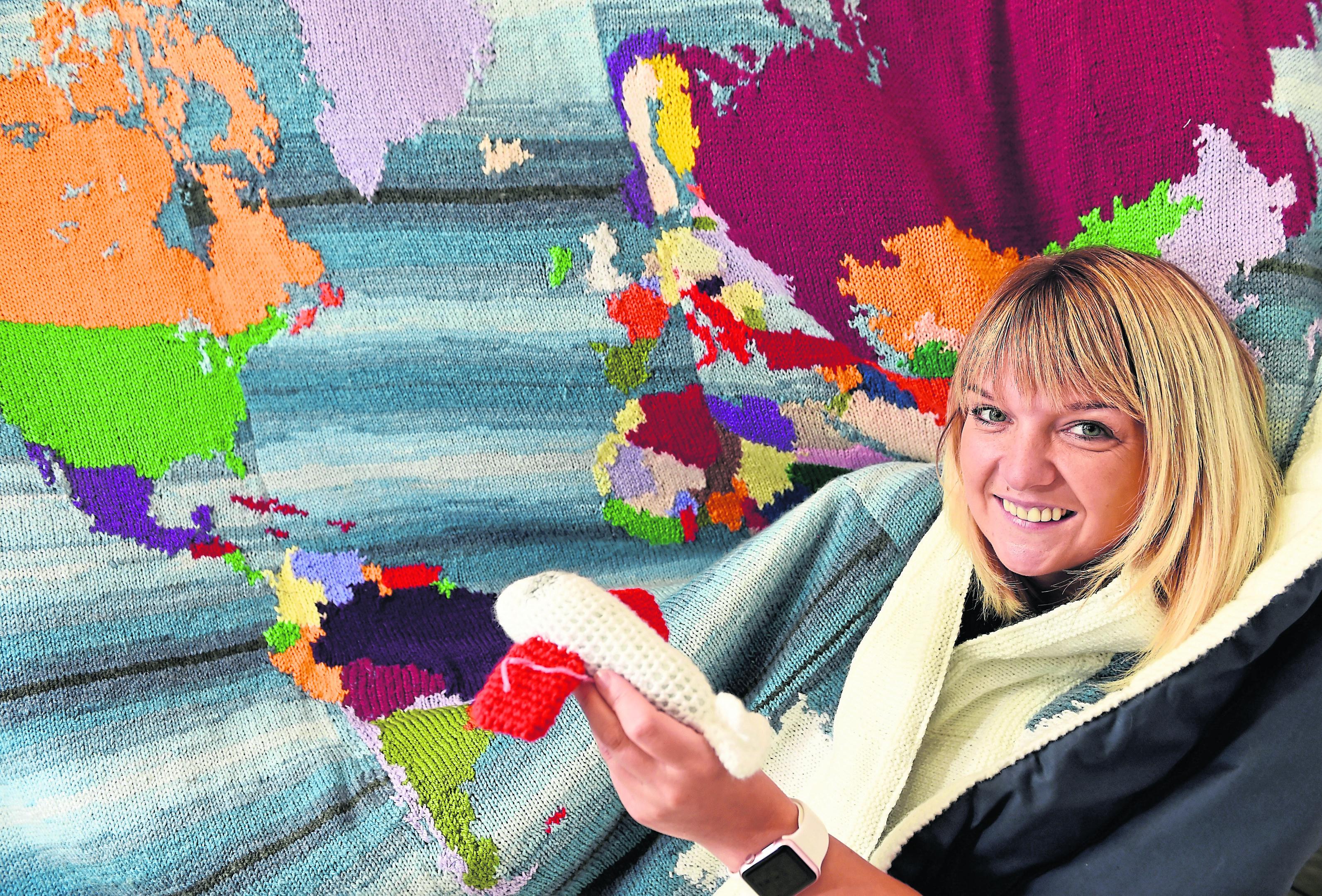 Cecilia Grigor, Director at Loch Ness Knit Festival.
