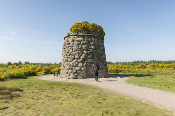 The Jacobite Memorial Cairn at Culloden Battlefield.