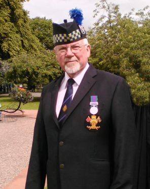 Joe Davidson, Inverness branch chairman of the Royal British Legion.