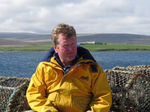 Kevin Kirkpatrick pictured on Hoy where the Longhope Lifeboat Museum is based.
